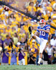 Florida senior punter David Lerner punts 37 yards during the fourth quarter of the Gators' 41-11 loss to the LSU Tigers on Saturday, October 8, 2011 at Tiger Stadium in Baton Rouge, La. / Gator Country photo by Tim Casey