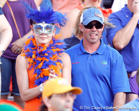 Florida fans cheer during the third quarter of the Gators' 41-11 loss to the LSU Tigers on Saturday, October 8, 2011 at Tiger Stadium in Baton Rouge, La. / Gator Country photo by Tim Casey