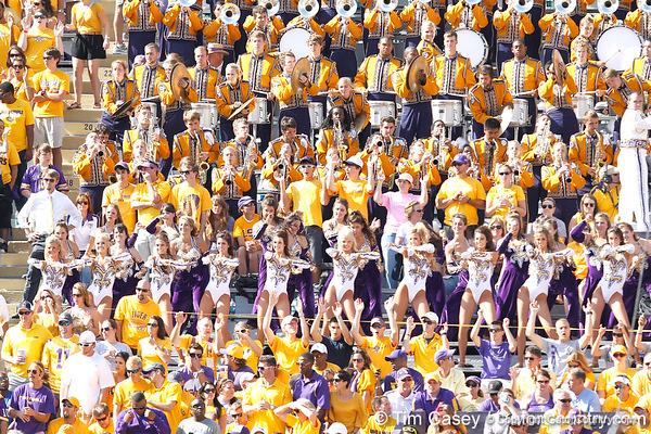 The LSU band performs during the first quarter of the Gators' 41-11 loss to the LSU Tigers on Saturday, October 8, 2011 at Tiger Stadium in Baton Rouge, La. / Gator Country photo by Tim Casey