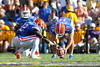 Florida sophomore safety Matt Elam holds the ball for redshirt junior kicker Caleb Sturgis during the third quarter of the Gators' 41-11 loss to the LSU Tigers on Saturday, October 8, 2011 at Tiger Stadium in Baton Rouge, La. / Gator Country photo by Tim Casey