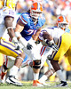 Florida redshirt junior tackle Matt Patchan blocks during the second quarter of the Gators' 41-11 loss to the LSU Tigers on Saturday, October 8, 2011 at Tiger Stadium in Baton Rouge, La. / Gator Country photo by Tim Casey