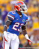Florida junior running back Mike Gillislee watches a kickoff during the fourth quarter of the Gators' 41-11 loss to the LSU Tigers on Saturday, October 8, 2011 at Tiger Stadium in Baton Rouge, La. / Gator Country photo by Tim Casey