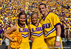LSU cheerleaders pose during the Gators' 41-11 loss to the LSU Tigers on Saturday, October 8, 2011 at Tiger Stadium in Baton Rouge, La. / Gator Country photo by Rob Foldy