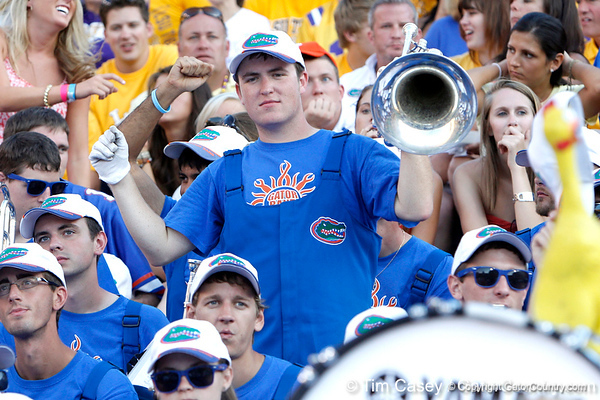 The UF band performs during the fourth quarter of the Gators' 41-11 loss to the LSU Tigers on Saturday, October 8, 2011 at Tiger Stadium in Baton Rouge, La. / Gator Country photo by Tim Casey