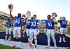 A small group of Florida players gather with the band to sing the alma mater after the Gators' 41-11 loss to the LSU Tigers on Saturday, October 8, 2011 at Tiger Stadium in Baton Rouge, La. / Gator Country photo by Rob Foldy