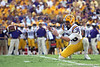 LSU's Brad Wing holds for a field goal during the second quarter of the Gators' 41-11 loss to the LSU Tigers on Saturday, October 8, 2011 at Tiger Stadium in Baton Rouge, La. / Gator Country photo by Tim Casey