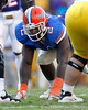 Florida sophomore defensive tackle Dominique Easley lines up during the fourth quarter of the Gators' 41-11 loss to the LSU Tigers on Saturday, October 8, 2011 at Tiger Stadium in Baton Rouge, La. / Gator Country photo by Tim Casey