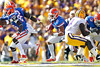 Florida sophomore running back Trey Burton attempts to convert a fake punt during the first quarter of the Gators' 41-11 loss to the LSU Tigers on Saturday, October 8, 2011 at Tiger Stadium in Baton Rouge, La. / Gator Country photo by Tim Casey