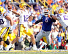 LSU quarterback Jarrett Lee passes during the second quarter of the Gators' 41-11 loss to the LSU Tigers on Saturday, October 8, 2011 at Tiger Stadium in Baton Rouge, La. / Gator Country photo by Tim Casey