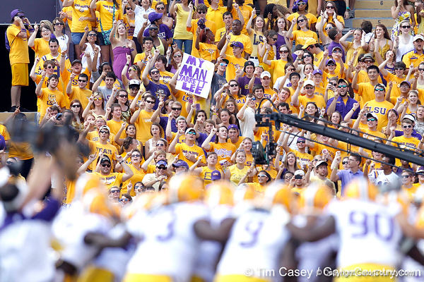 LSU fans cheer before the Gators' 41-11 loss to the LSU Tigers on Saturday, October 8, 2011 at Tiger Stadium in Baton Rouge, La. / Gator Country photo by Tim Casey