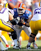 Florida redshirt senior defensive tackle Jaye Howard jumps off of the line during the third quarter of the Gators' 41-11 loss to the LSU Tigers on Saturday, October 8, 2011 at Tiger Stadium in Baton Rouge, La. / Gator Country photo by Tim Casey