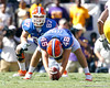 Florida senior tight end William Steinmann and sophomore longsnapper Drew Ferris line up for a punt during the first quarter of the Gators' 41-11 loss to the LSU Tigers on Saturday, October 8, 2011 at Tiger Stadium in Baton Rouge, La. / Gator Country photo by Tim Casey