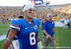 Florida sophomore running back Trey Burton walks to the locker room after the Gators' 41-11 loss to the LSU Tigers on Saturday, October 8, 2011 at Tiger Stadium in Baton Rouge, La. / Gator Country photo by Rob Foldy