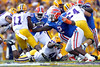 Florida sophomore defensive tackle Sharrif Floyd and sophomore defensive tackle Dominique Easley chase Spencer Ware  during the first quarter of the Gators' 41-11 loss to the LSU Tigers on Saturday, October 8, 2011 at Tiger Stadium in Baton Rouge, La. / Gator Country photo by Tim Casey
