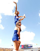 Florida cheerleaders perform before the Gators' 41-11 loss to the LSU Tigers on Saturday, October 8, 2011 at Tiger Stadium in Baton Rouge, La. / Gator Country photo by Tim Casey
