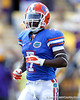 Florida sophomore receiver Robert Clark warms up before the Gators' 41-11 loss to the LSU Tigers on Saturday, October 8, 2011 at Tiger Stadium in Baton Rouge, La. / Gator Country photo by Tim Casey