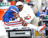 Florida sophomore cornerback Cody Riggs rests on the sideline during the fourth quarter of the Gators' 41-11 loss to the LSU Tigers on Saturday, October 8, 2011 at Tiger Stadium in Baton Rouge, La. / Gator Country photo by Tim Casey