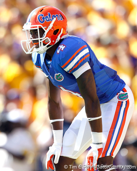 Florida redshirt sophomore receiver Andre Debose lines up for a kickoff during the first quarter of the Gators' 41-11 loss to the LSU Tigers on Saturday, October 8, 2011 at Tiger Stadium in Baton Rouge, La. / Gator Country photo by Tim Casey