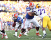 Florida redshirt senior running back Chris Rainey scores on a two-point conversion during the third quarter of the Gators' 41-11 loss to the LSU Tigers on Saturday, October 8, 2011 at Tiger Stadium in Baton Rouge, La. / Gator Country photo by Tim Casey