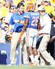 Florida head coach Will Muschamp shouts at freshman cornerback De'Ante Saunders during the second quarter of the Gators' 41-11 loss to the LSU Tigers on Saturday, October 8, 2011 at Tiger Stadium in Baton Rouge, La. / Gator Country photo by Tim Casey