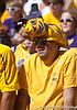 An LSU fan with a video camera strapped to his head during the Gators' 41-11 loss to the LSU Tigers on Saturday, October 8, 2011 at Tiger Stadium in Baton Rouge, La. / Gator Country photo by Rob Foldy