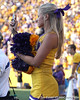 An LSU cheerleader takes a photo during the fourth quarter of the Gators' 41-11 loss to the LSU Tigers on Saturday, October 8, 2011 at Tiger Stadium in Baton Rouge, La. / Gator Country photo by Tim Casey