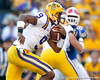 Jordan Jefferson runs for a one-yard gain during the fourth quarter of the Gators' 41-11 loss to the LSU Tigers on Saturday, October 8, 2011 at Tiger Stadium in Baton Rouge, La. / Gator Country photo by Tim Casey
