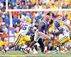 Florida redshirt sophomore tight end Jordan Reed runs a pass route as Jacoby Brissett throws during the third quarter of the Gators' 41-11 loss to the LSU Tigers on Saturday, October 8, 2011 at Tiger Stadium in Baton Rouge, La. / Gator Country photo by Tim Casey