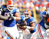 Florida sophomore running back Trey Burton fakes a handoff during the second quarter of the Gators' 41-11 loss to the LSU Tigers on Saturday, October 8, 2011 at Tiger Stadium in Baton Rouge, La. / Gator Country photo by Tim Casey