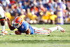Florida sophomore running back Trey Burton dives on a fumble during the second quarter of the Gators' 41-11 loss to the LSU Tigers on Saturday, October 8, 2011 at Tiger Stadium in Baton Rouge, La. / Gator Country photo by Tim Casey