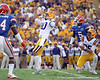 LSU kicker Drew Alleman celebrates after a 35-yard field goal during the second quarter of the Gators' 41-11 loss to the LSU Tigers on Saturday, October 8, 2011 at Tiger Stadium in Baton Rouge, La. / Gator Country photo by Tim Casey