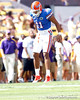 Florida redshirt sophomore tight end Jordan Reed warms up before the Gators' 41-11 loss to the LSU Tigers on Saturday, October 8, 2011 at Tiger Stadium in Baton Rouge, La. / Gator Country photo by Tim Casey