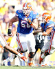 Florida redshirt senior guard Dan Wenger blocks during the second quarter of the Gators' 41-11 loss to the LSU Tigers on Saturday, October 8, 2011 at Tiger Stadium in Baton Rouge, La. / Gator Country photo by Tim Casey