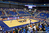 The Florida volleyball team scrimmages during the Gators' annual Fan Day event on Saturday, August 20, 2011 at the Stephen C. O'Connell Center in Gainesville, Fla. / Gator Country photo by Tim Casey