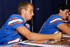 Florida redshirt sophomore kicker John Crofoot signs an autograph during the Gators' annual Fan Day event on Saturday, August 20, 2011 at the Stephen C. O'Connell Center in Gainesville, Fla. / Gator Country photo by Tim Casey