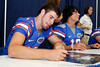 Florida sophomore quarterback Christian Provancha signs an autograph during the Gators' annual Fan Day event on Saturday, August 20, 2011 at the Stephen C. O'Connell Center in Gainesville, Fla. / Gator Country photo by Tim Casey
