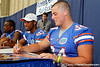 Florida senior fullback Jason Traylor signs an autograph during the Gators' annual Fan Day event on Saturday, August 20, 2011 at the Stephen C. O'Connell Center in Gainesville, Fla. / Gator Country photo by Tim Casey