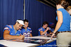Florida sophomore running back Phillip Bellino signs an autograph during the Gators' annual Fan Day event on Saturday, August 20, 2011 at the Stephen C. O'Connell Center in Gainesville, Fla. / Gator Country photo by Tim Casey