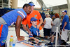 Florida freshman quarterback Jacoby Brissett poses for a photo during the Gators' annual Fan Day event on Saturday, August 20, 2011 at the Stephen C. O'Connell Center in Gainesville, Fla. / Gator Country photo by Tim Casey