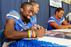 Florida redshirt senior running back Chris Rainey signs an autograph during the Gators' annual Fan Day event on Saturday, August 20, 2011 at the Stephen C. O'Connell Center in Gainesville, Fla. / Gator Country photo by Tim Casey