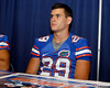 Florida senior receiver Solomon Schoonover signs an autograph during the Gators' annual Fan Day event on Saturday, August 20, 2011 at the Stephen C. O'Connell Center in Gainesville, Fla. / Gator Country photo by Tim Casey