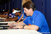 Florida head coach Will Muschamp signs an autpgraph during the Gators' annual Fan Day event on Saturday, August 20, 2011 at the Stephen C. O'Connell Center in Gainesville, Fla. / Gator Country photo by Tim Casey