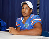 Florida freshman safety Valdez Showers poses for a photo during the Gators' annual Fan Day event on Saturday, August 20, 2011 at the Stephen C. O'Connell Center in Gainesville, Fla. / Gator Country photo by Tim Casey