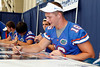 Florida freshman quarterback Jeff Driskel signs an autograph during the Gators' annual Fan Day event on Saturday, August 20, 2011 at the Stephen C. O'Connell Center in Gainesville, Fla. / Gator Country photo by Tim Casey
