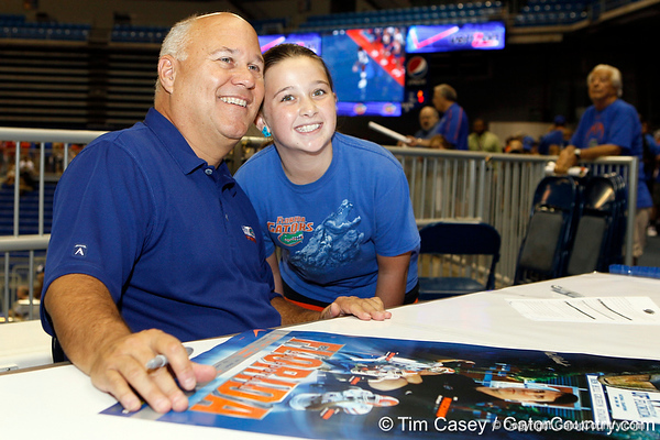 Broadcaster Mick Hubert poses for a photo during the Gators' annual Fan Day event on Saturday, August 20, 2011 at the Stephen C. O'Connell Center in Gainesville, Fla. / Gator Country photo by Tim Casey
