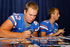 Florida freshman longsnapper Kyle Crofoot signs an autograph during the Gators' annual Fan Day event on Saturday, August 20, 2011 at the Stephen C. O'Connell Center in Gainesville, Fla. / Gator Country photo by Tim Casey