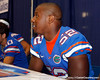 Florida junior linebacker Jonathan Bostic signs an autograph during the Gators' annual Fan Day event on Saturday, August 20, 2011 at the Stephen C. O'Connell Center in Gainesville, Fla. / Gator Country photo by Tim Casey