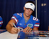 Florida sophomore kicker Brad Phillips signs an autograph during the Gators' annual Fan Day event on Saturday, August 20, 2011 at the Stephen C. O'Connell Center in Gainesville, Fla. / Gator Country photo by Tim Casey