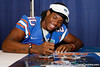 Florida freshman receiver Ja'Juan Story signs an autograph during the Gators' annual Fan Day event on Saturday, August 20, 2011 at the Stephen C. O'Connell Center in Gainesville, Fla. / Gator Country photo by Tim Casey