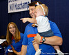 Florida head coach Will Muschamp poses for a photo during the Gators' annual Fan Day event on Saturday, August 20, 2011 at the Stephen C. O'Connell Center in Gainesville, Fla. / Gator Country photo by Tim Casey